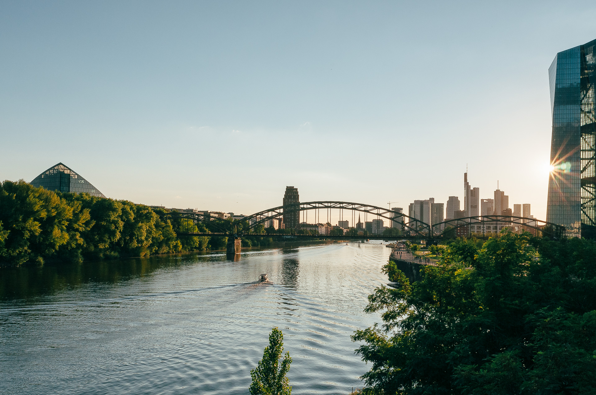 Frankfurt am Main Sommerabend