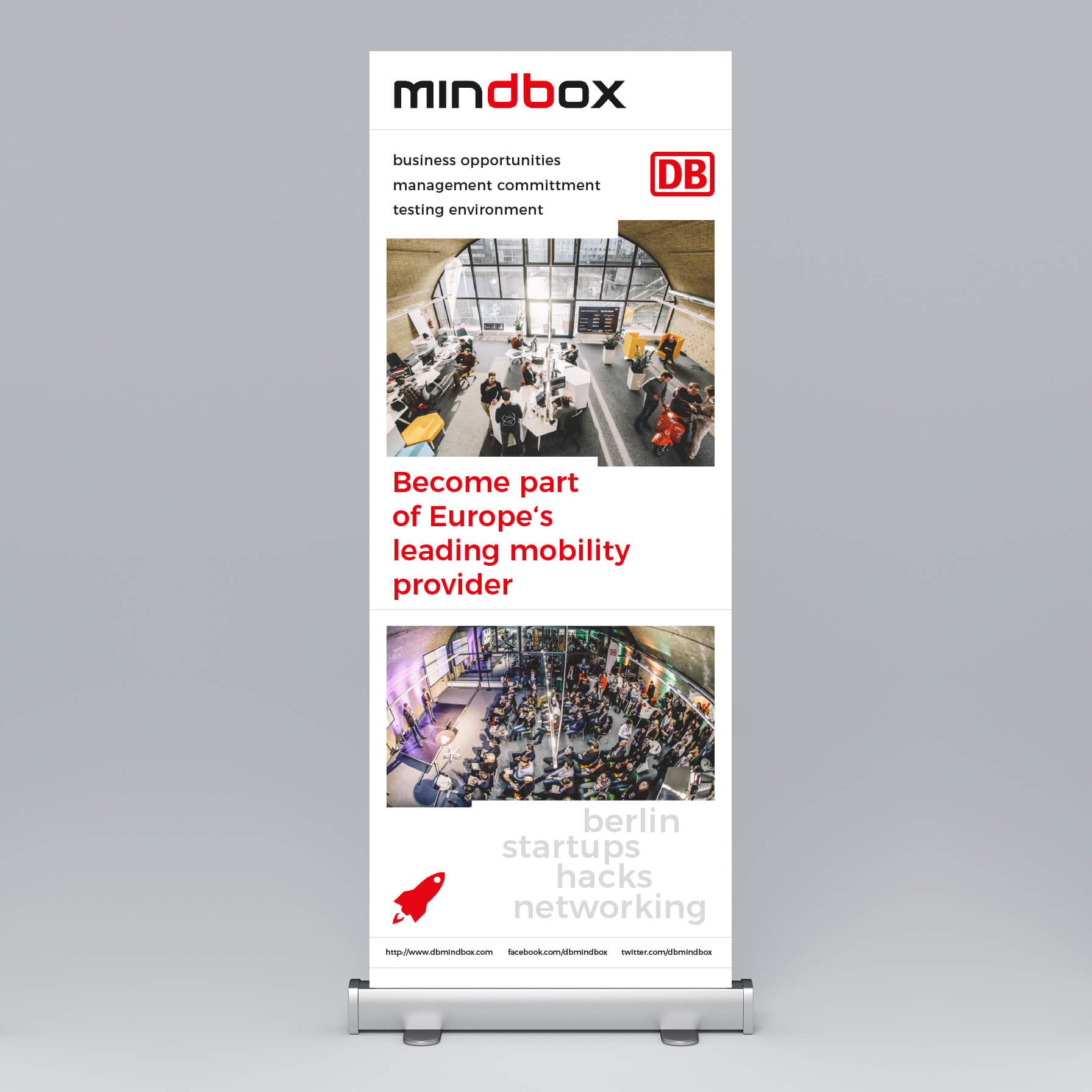 Mindbox Roll-Up Banner
