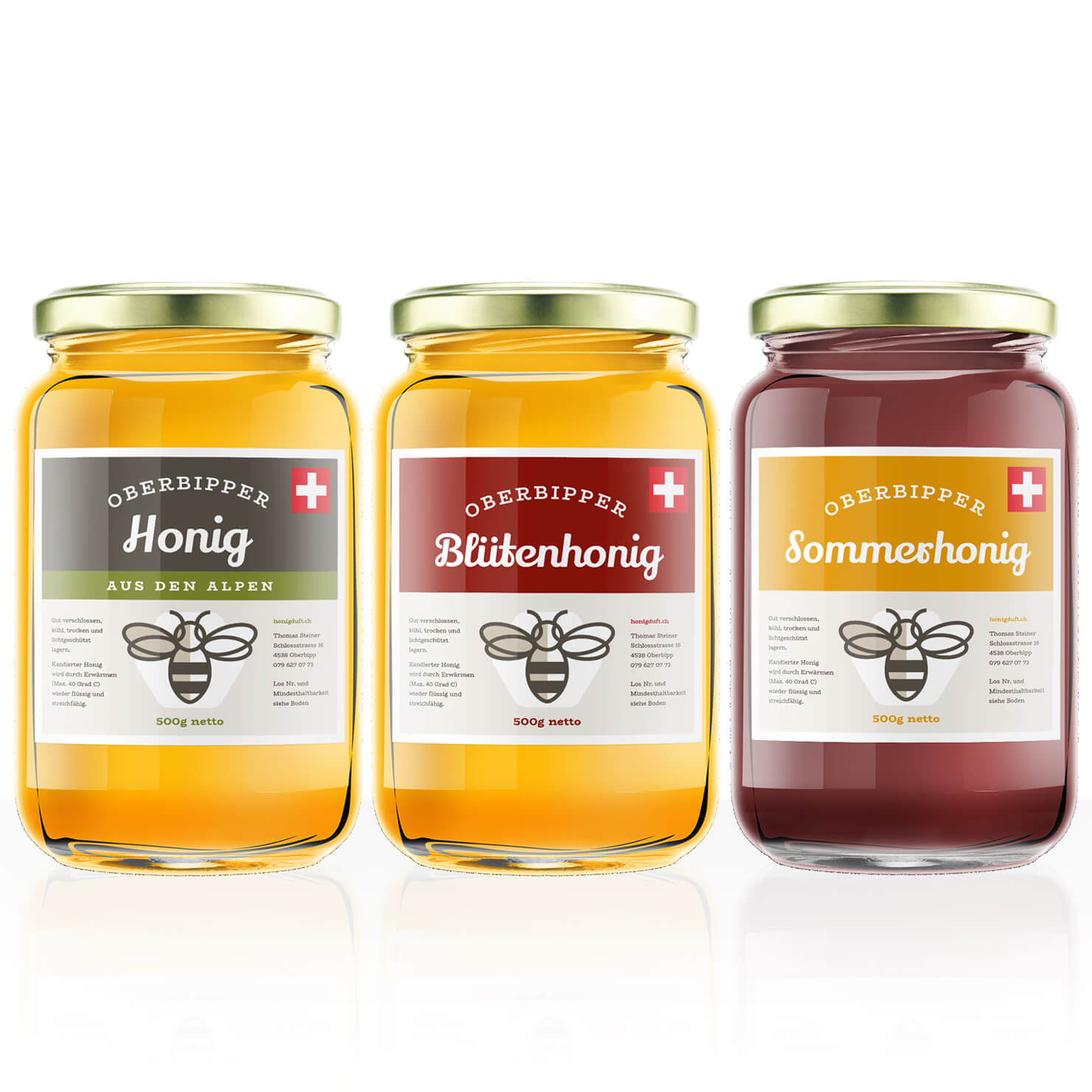 Etiketten für Honig