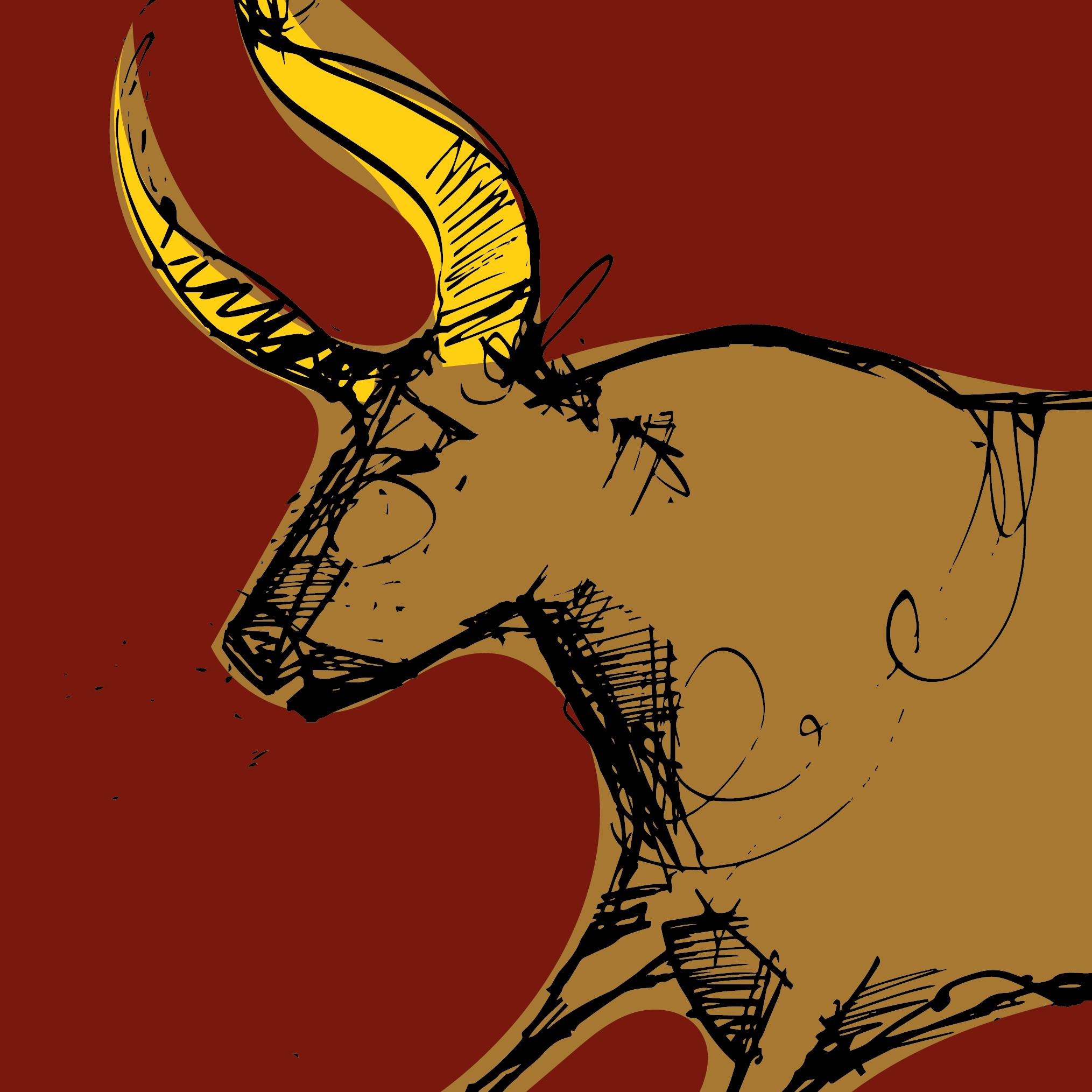 Stier-Illustration