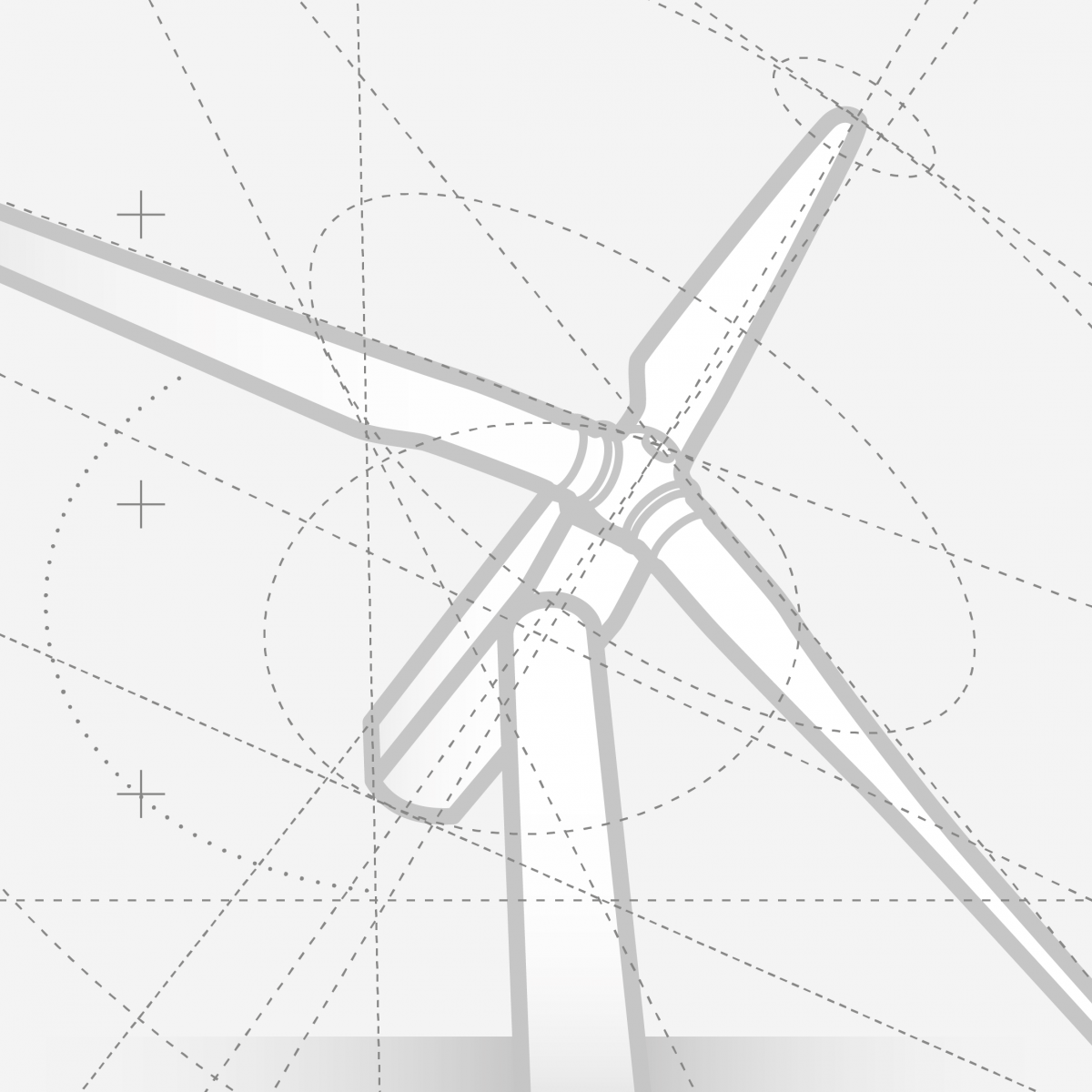 Wind Turbine Illustration