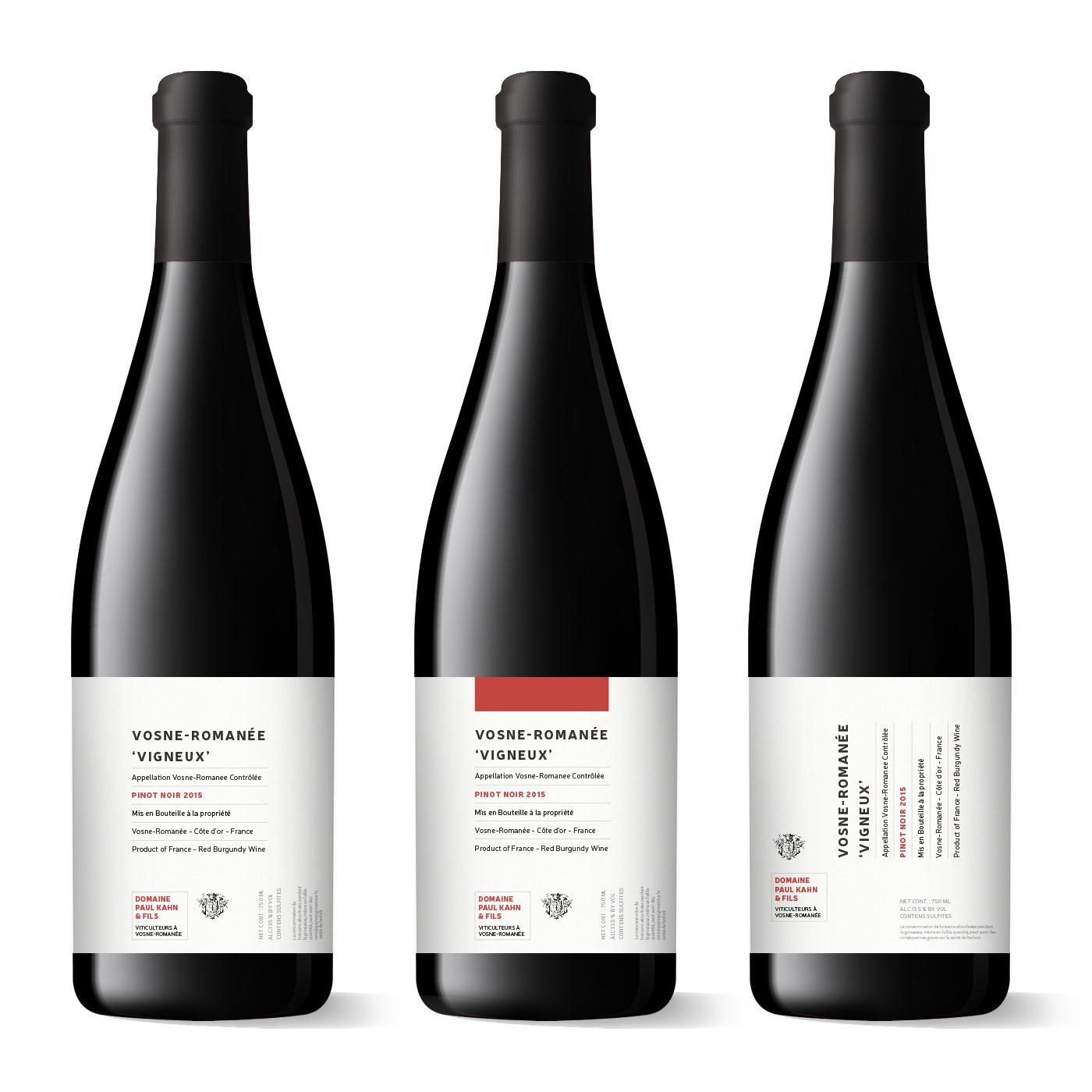 Weinetikett Pinot Noir
